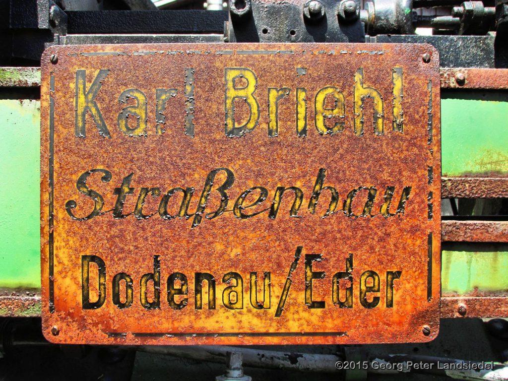Firmaschild Henschel 1014